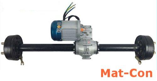 Differenzialgetriebe Differential Achsmotor Transaxle E-Motor BLDC Gleichstrom 48V 3KW 3000W (max. 5KW 5000W) max.160Nm, mit 2-Gang-Schaltung