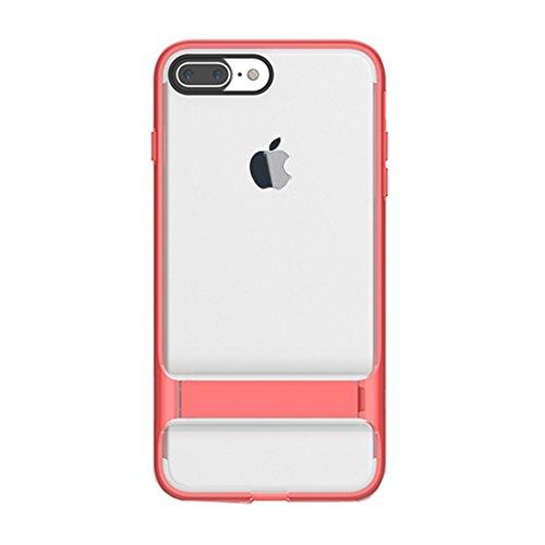 BING Für iPhone 7 Plus Business Style TPU + PC Schutzhülle mit Halter Kickstand BING ( Color : Red ) Red