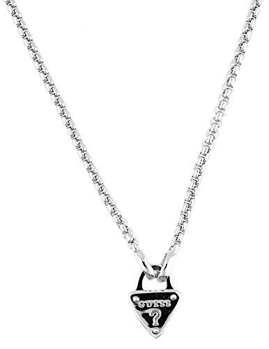 Guess Damen-Kette mit Anhänger The Secret Key Halskette Edelstahl 45 cm-UBN21552 (Tous Armband Perle)