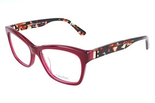 Calvin Klein Unisex-Erwachsene Brillengestelle, Red, 51