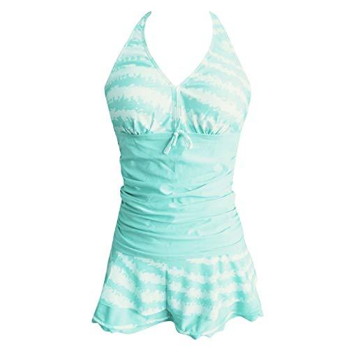 cca97774db31a Barlingrock Swimwear Maillot de Bain 3 pièces en Mousseline de Soie pour  Femme