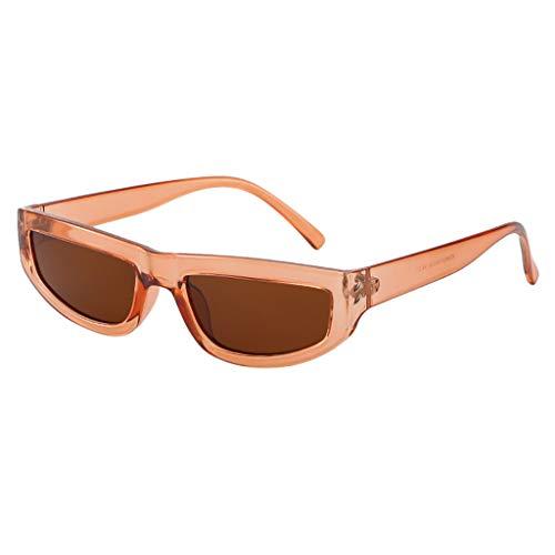 iYmitz Unisex Sonnenbrille, Vintage Eye Klassische Sonnenbrillen Retro Eyewear Mode Strahlenschutz Brillenfassung Brille(Khaki,Free Size)