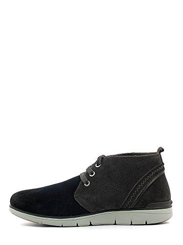 STONEFLY 107670 chaussures bleues milieu de lacets en cuir bottes homme Blu