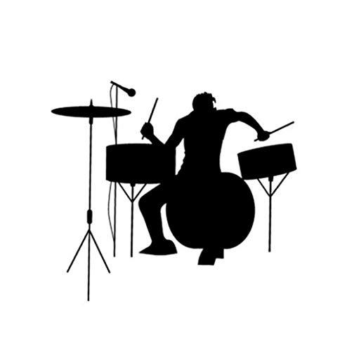 Fahrzeug-Autoaufkleber Schlagzeug Schlagzeuger Silhouette Rock Band Musik Auto Aufkleber Spaß Sportlich Auto Aufkleber Aufkleber 19 * 17 CM 2 Stück - Rock Band Silhouette