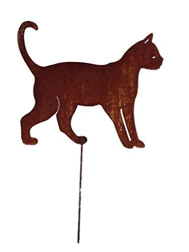 Gartenstecker Edelrost - laufende Katze groß