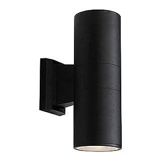 Wokee Wandleuchten LED,6W,Schwarz,Moderne Wandbeleuchtung,AC-Netzteil Bewegungssensor up & Down Außenwand Sicherheitslicht