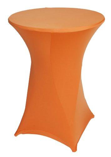 BASIC Stretchhusse für Stehtisch bis 80cm, orange