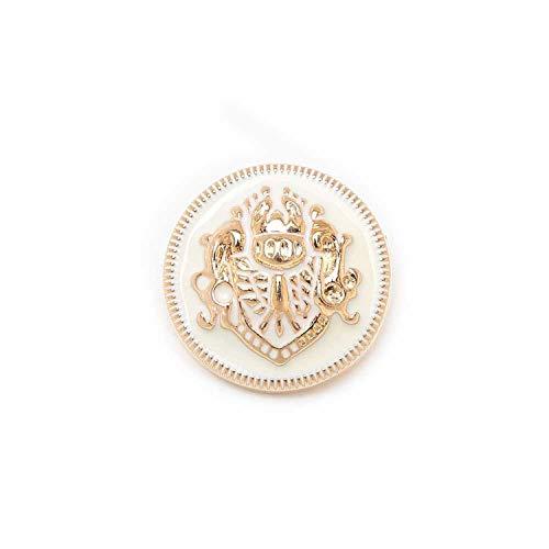 Okayit 5 Stücke Lion Emaille Metallknöpfe Zum Nähen Sammelalbum Jacke Blazer Pullover Geschenk Handwerk Handarbeit Kleidung 10-25 Mm - Weben Blazer Jacke