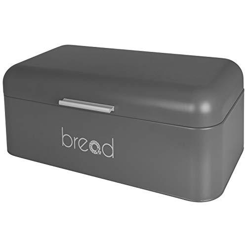 TW24 Brotbox - Brotkiste - Brotkasten - Metall 42x22x16cm - mit Farbwahl (grau)