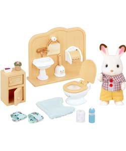 Sylvanian Families Chocolate Rabbit Brother Set.