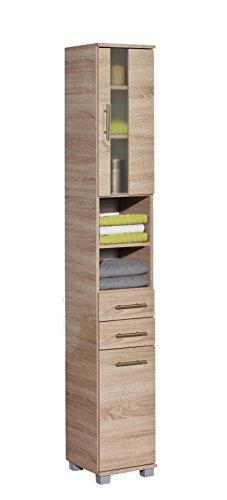Schildmeyer Hochschrank Holzdekor Sonoma Eiche 32.6 x 30.3 x 194.2 cm