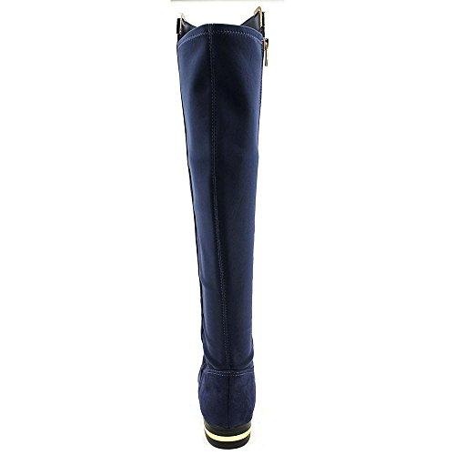 Marc Fisher Pheonix 2 Rund Faux Wildleder Mode-Knie hoch Stiefel Dark Blue