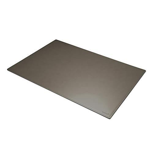 Eglooh - Mercurio - Schreibtischunterlage aus Leder Taupe Grau cm 50x35 - Handwerkliche Nähte und rutschfester Boden - Made in Italy -