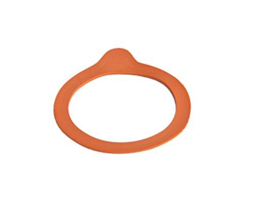 WECK-Einkochringe, 100 Gummidichtringe 94 x 108 mm für Rundrand 100, rot-braun, RR100, luftdicht verschließen + konservieren, Zubehör zum Einkochen, einwecken incl. Rezeptheft von Diamantzucker