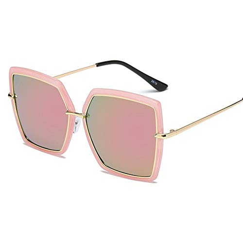 QIAOXINGXING Sonnenbrillen, 2019 Damenmode-Trend Sonnenbrille Quadrat Straße Beat Gesicht Sonnenbrille Großhandel benutzerdefinierte (Farbe : B)