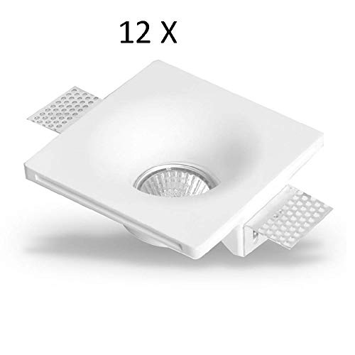 Portafoco de yeso empotrable Kit de 12 piezas
