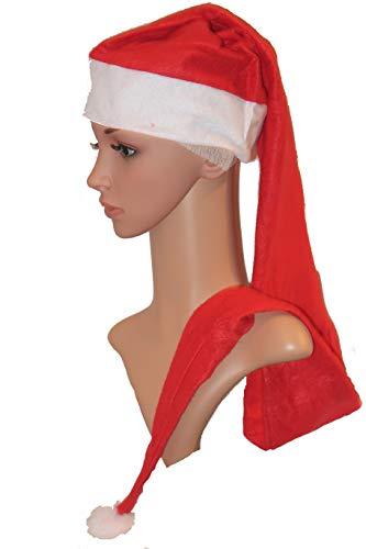 MiTo XXL Weihnachtsmütze mit Glocke, Filzrand und Bommel - 120cm lang