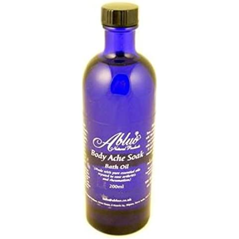 Abluo Body Ache Soak Bath Oil 200ml: ultra relief deep joint muscle aches and pains by Abluo