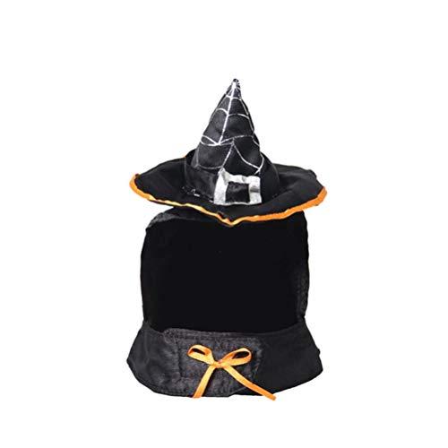 POPETPOP Katze Hund Hut Welpe Katze Halloween Urlaub Zubehör Halloween Zauberer Hut Kostüm Zubehör Hexe Haustier Hut für Katzen und Hunde