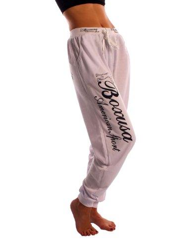 CINC Damen Jogginghose Boxusa American Style - Größe: XXL - Farbe: Weiss - 19450
