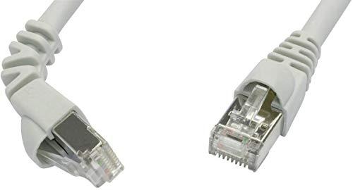 Telegärtner Netzwerkkabel - Stecker/Stecker, Cat. 7 MP8 FS 600 LSZH 2,0m; 1 x um 90 Grad verdrehtes Kabel, 2m, grau