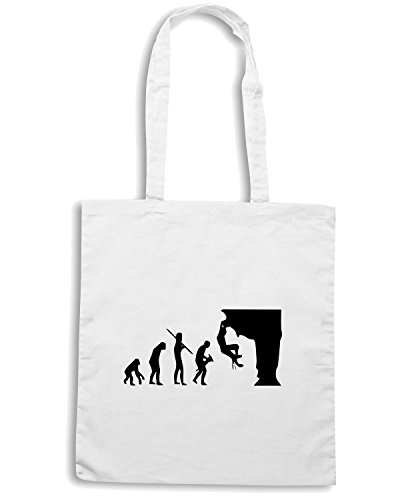 T-Shirtshock - Borsa Shopping EVO0008 Climber Evolution Maglietta Bianco