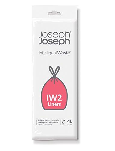 Joseph Joseph Paquete de 50 Bolsas compostables para residuos, 4 litros