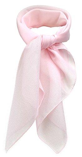 TigerTie Feines Damen Chiffon Nickituch in rosa einfarbig Uni - Größe 58 cm x 58 cm - Tuch Halstuch Schal
