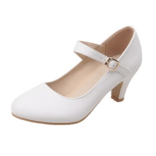 AIYOUMEI Coupe Fermées Femme Weiß