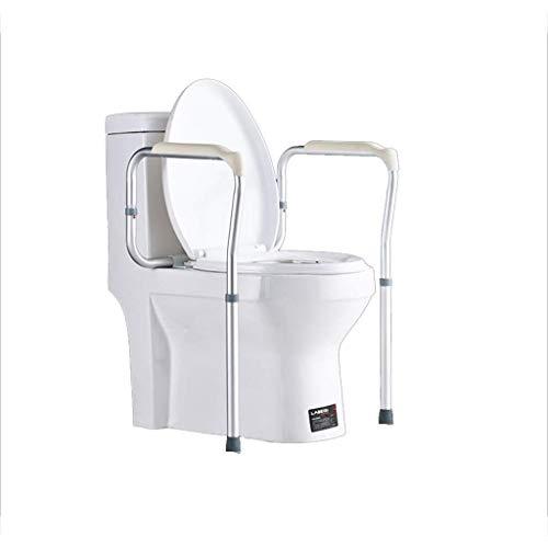MZ Soft Hohe Qualität WC-Handlauf-Badezimmer-Schiebesperre, ältere Schwangere Frauen-WC-Armlehnen - Badezimmer-Sicherheit Anti-Rutsch-barrierefreies Gestell Einfach zu säubern (Color : White)