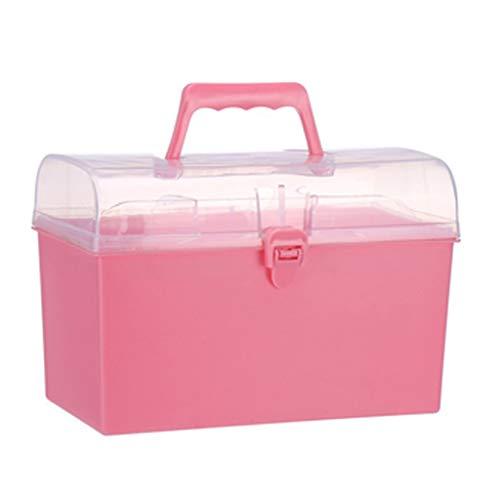 Lxrzls cassetta di pronto soccorso for kit di pronto soccorso for la casa di medicina (color : pink)