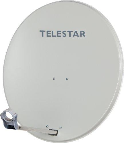Telestar Digirapid 80 SAT-Spiegel (80 cm Aluminium-Spiegel, vormontierte Masthalterung, 40mm LNB-Halterung) lichtgrau