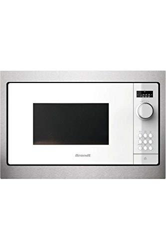 BRANDT bms6115 W intégré Solo – Micro-onde (intégré, Solo micro-ondes 26 l, 900 W, boutons, rotatif, blanc)