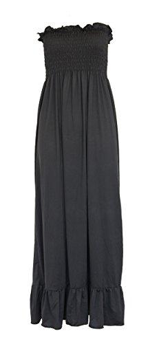 """Robe Longue Bustier D'Été """"Taille Unique"""" Noir"""
