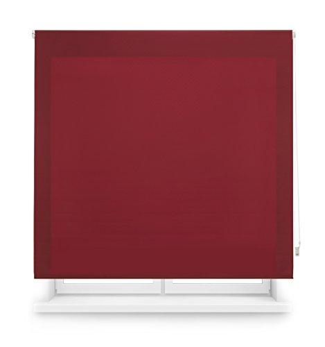 Blindecor Ara - Estor enrollable translúcido liso, Burdeos, 120 x 175 cm