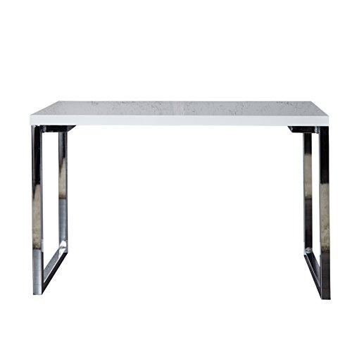 Fügt Hochglanz (Riess Ambiente Design Laptoptisch WHITE DESK 160x60 cm hochglanz weiß Schreibtisch Büro Konsole Konsolentisch Bürotisch)