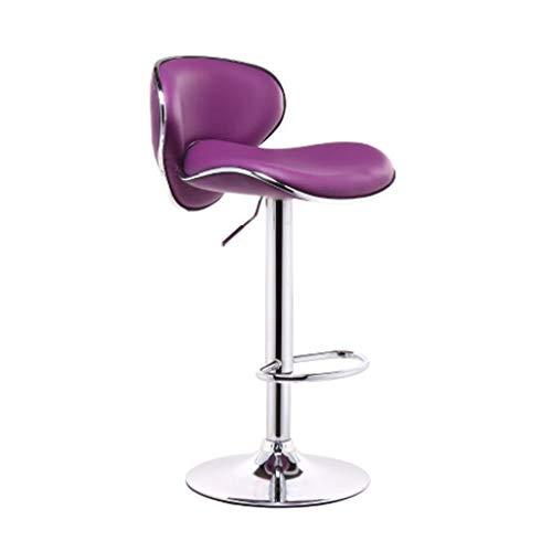 Chaise De Bar Violette Avec Similicuir Dossier Exterieur Cuisine Petit Dejeuner Chaises