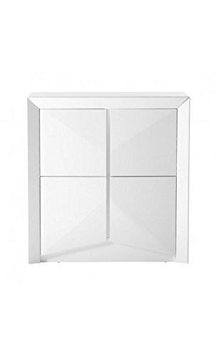 CAMINO A CASA - Buffet design 4 portes laqué blanc Arc