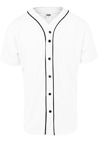 URBAN CLASSICS - Baseball Mesh Jersey (white/black) White/Black