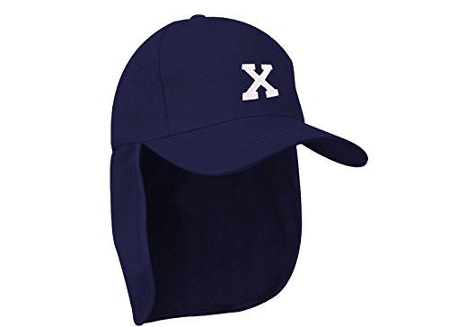 Junior-Legionär-Stil Jungen Mädchen Mütze Baseball Nackenschutz Sonnenschutz Cap Hut Kinder Kappe A-Z Letter MFAZ Morefaz Ltd (X) - Dc-mütze