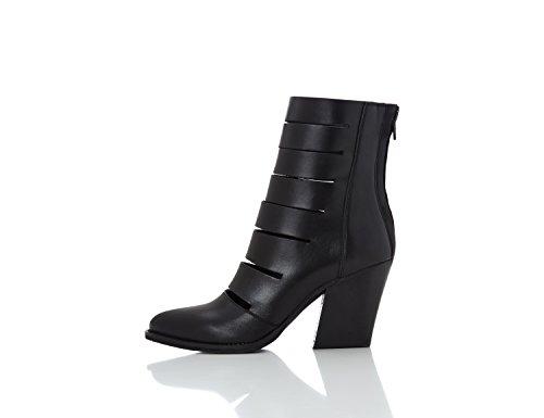 FIND Damen Loafer mit Plateau-Sohle Schwarz (Black)