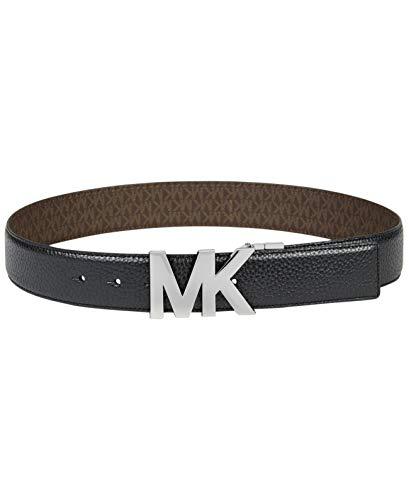 Reversible Plaque Belt (Michael Kors Reversible Signature Plaque Belt (Black/Brown, XS))