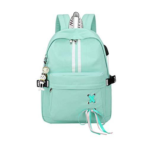 Kanitry Mode Diebstahl Reflektierende Frauen Rucksack USB Lade Kopfhörer Loch Schultaschen Mädchen Reise Laptop Bagpack Bookbags (3)
