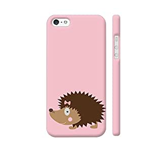 Colorpur iPhone SE Cover - Cute Hedgehog Printed Back Case