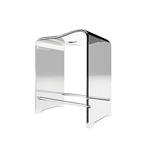 Schulte Duschhocker, Acryl, transparent, 47 cm