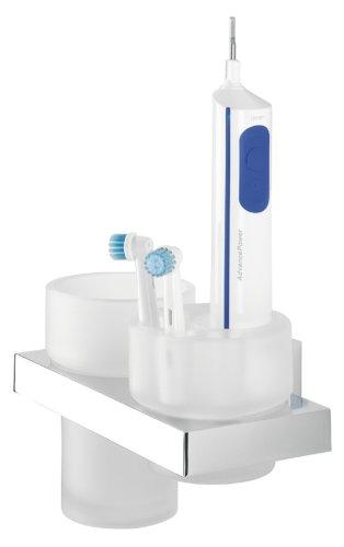 Tiger Items Dental Set, Halterung für elektrische Zahnbürsten, Edelstahl verchromt
