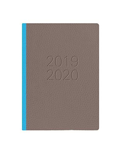 Calendario Con Note.Letts Calendario Scolastico Two Tone A6 1 Giorno Per Pagina Con Note Multilingue Grey Teal 2019 20