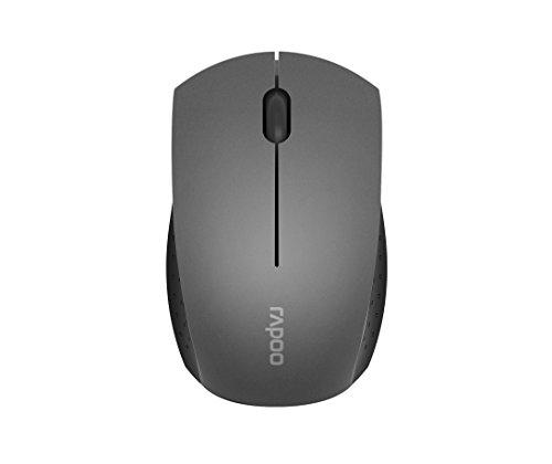 Rapoo 3360 kabellose Mini Maus (2,4 GHz Wireless, sehr kompakt, optisch, 1000 DPI, 3 Tasten inkl. 2D Mausrad, Nano-USB für PC, Laptop, iMac, Macbook, Microsoft) grau - Kompakte Optische Maus