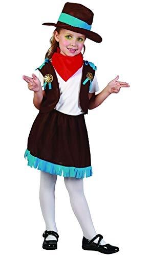 Islander Fashions Cowgirl Kleinkind Komplett Outfit Chikdren Kinder Welt Buch Tag Kost�m Kost�m One Size (unter 4 Jahre) (Für Cowgirl-outfits Kinder)