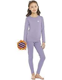 Meetwee - Ropa interior térmica para niña, ropa interior de esquí para niña, manga larga, ropa técnica para running invierno